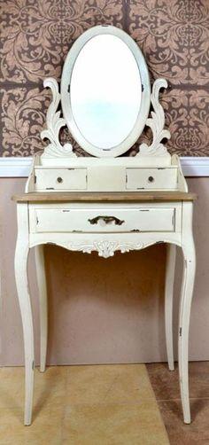 TOALETKA STYL PROWANSALSKI - Meble bielone - Artykuły dekoracyjne do domu…
