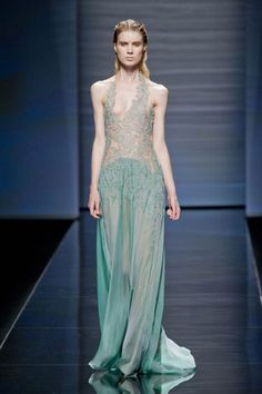 Alberta Ferretti Spring 2013/ Milan  For evening, it wasn't so much about the little mermaid, though, as it was about sirens. Some gowns even had net-like overlays. Message received, hook, line and sinker!    Read more: Milan Fashion Week Spring 2013 Runway Looks -   Best Spring 2013 Runway Fashion - Harper's BAZAAR