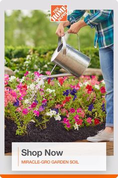 Get your plants off to a great start with Miracle-Gro All Purpose Garden Soil available at The Home Depot. Enriched with continuous release plant food, it feeds plants for up to three months and improves existing soil to help your plants build strong roots. Click to shop. Garden Soil, Garden Paths, Garden Club, Home And Garden, Bloom, Lawn Care, Garden Planning, Brittany, Food Videos