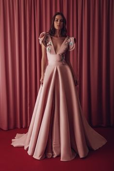 Gatti Nolli by Marwan Elise Cap Sleeve Gown - District 5 Boutique Ball Dresses, Ball Gowns, Evening Dresses, Pink Wedding Gowns, Bridal Dresses, Cap Sleeve Gown, Off Shoulder Gown, Beaded Gown, A Line Gown
