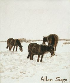 Winter Feeding by Allen Sapp
