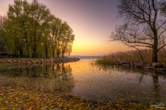 Sunset in Varese Lake by Matteo Mazzetti