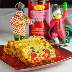Pineapple Fruitcake - a moist rich cream cheese batter fruitcake, soaked in brandy, in a recipe size that makes up to 3 loaf sized cakes for Holiday giving.