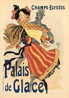 Palais De Glace Art Deco Poster by Toulouse Lautrec