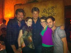 Felicia Day and Nathan Fillion at Comic-Con 2012.