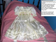 size 5 smocked flower girl gown japanese soft silk reduced to $140 from a 180