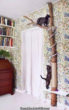 Cool cat houses for cool cats - DIY cat house furnishings - ca . - cats - Cool cat houses for cool cats DIY cat house furnishings approx - Cool Cat Toys, Diy Cat Toys, Cats Diy, Cool Cats, Diys For Cats, Homemade Cat Toys, Diy Jouet Pour Chat, Diy Pet, New Swedish Design