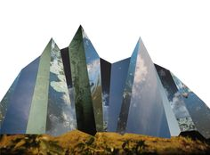 Photo collages of landscapes by Liesl Pfeffer