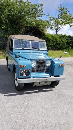 Lovely blue Land Rover Series 2A, 2.2 diesel engine more than 50 years old great condition throughout but retaining some of the wear features that you would see on such a vehicle, I decided not to spray as I liked the original look. | eBay!