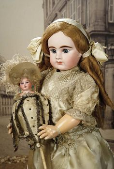 """""""Fascination"""" - Sunday, January 8, 2017: 311 French Bisque Bebe by Denamur with Original """"Le Bambin"""" Body and Original Costume"""