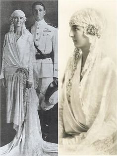 iconic wedding dresses of the 1920s - Anne of France (1927)