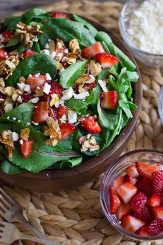 Strawberry and Spinach Salad With Almond Vinaigrette on imgfave