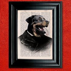 Dictionary Page Print: Fancy Rottweiler by PrintsofRogues on Etsy