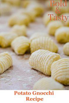 A recipe for potato gnocchi recipe. #gnocchi #potatoes #recipe #gnocchidipatate #foodblog #boldandtasty Potato Gnocchi Recipe, Gnocchi Recipes, Easy Tomato Sauce, Tray Bakes, Food And Drink, Potatoes, Tasty, Homemade, Baking