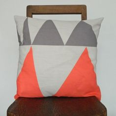 Triangles Cushion by Gail Bryson from Future & Found Small Cushions, Floral Cushions, Bolster Cushions, Embroidered Cushions, Scatter Cushions, Decorative Cushions, Bed Pillows, Contemporary Cushions, Modern Cushions