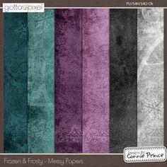 Frozen & Frosty - Messy Paper Pack. Digital Scrapbook product at Gotta Pixel. www.gottapixel.net/