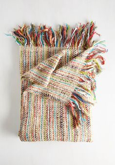 Throw in Tow Blanket. From nights spent around the fire pit to cozy movie marathons at home, this woven throw blanket goes wherever you go! #multi #modcloth