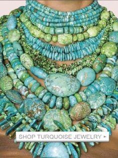 Chunky Turquoise Jewelry!