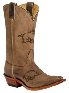 Nocona Arkansas Boots are a must have for us Razorback fans! Wooo pig sooie!! :)