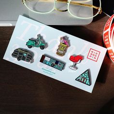 ✨🏠💸 Mod AF enamel pins by @victoriap8er 〰️ ➕ architecture ➕ cocktails ➕ furniture ➕ adventure 〰️ 📥 wholesale & collaboration