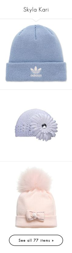 """Skyla Kari"" by szabaee ❤ liked on Polyvore featuring baby, accessories, hats, adidas beanie, beanie cap hat, stripe hat, beanie hat, beanie caps, clear sky and adidas"