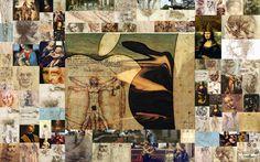 Leonardo da Vinci  Collage by Daniela Scarel