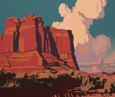 Billy Schenck New Paintings - Opens October Tucson Western Landscape, Landscape Art, Landscape Paintings, Landscape Illustration, Digital Illustration, Graphic Design Illustration, Painting Inspiration, Art Inspo, Arte Indie