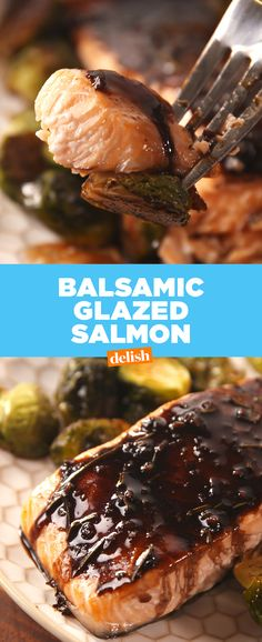 It's safe to say we're completely hooked on this Balsamic Glazed Salmon. Get the recipe at Delish.com.