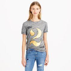 "The best way to jazz up a classic heathery tee? A giant gold foil number and a cheeky message. <ul><li>Slightly loose fit.</li><li>Body length 25 1/2"".</li><li>Cotton/Modal® rayon.</li><li>Machine wash.</li><li>Import.</li></ul>"