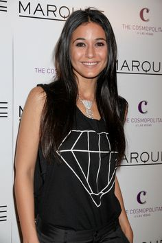 Emmanuelle Chriquis long, straight hairstyle