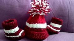 The holiday spirit! A kids booties and toopi