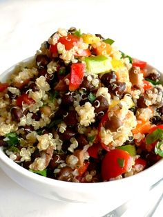 Paella di Quinoa speziata #unarossaincucina