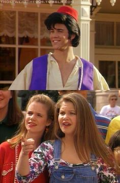 That crazy moment when you realize that the voice of Aladdin is dressed as Aladdin on an episode of Full House. wha???