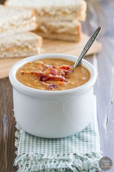 Homemade Bean and Bacon Soup| tasteandtellblog.com