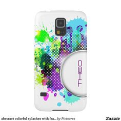 abstract colourful splashes with frame for text galaxy s5 cases