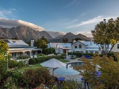 Franschhoek - the world renowned and picturesque food and wine capital of South Africa, is abuzz with the imminent opening of the iconic La Colombe's new La Petite Colombe, which is replacing The Ta Hotels And Resorts, Best Hotels, Free Logs, Romantic Escapes, Romantic Getaways, France, Africa Travel, Log Homes, Outdoor Pool