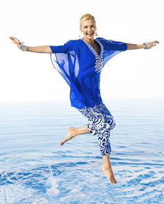 Hooray for Summer with Ginger Poncho & Lotus Blossom II Crop