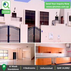 Villa for Rent in Qatar: Spacious Standalone 4 Bedrooms Villa (unfurnished with ACs) in Al Waab at QAR 14,000/-