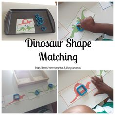 Tot-School Dinosaur Shape Matching Day 4