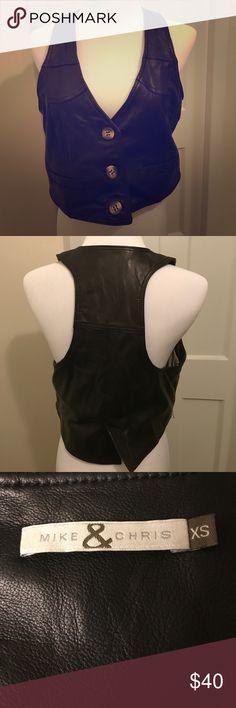 Mike & Chris Leather Vest 100% leather vest by Mike & Chris Mike & Chris Jackets & Coats Vests
