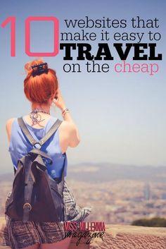 10 Websites That Make it Easy to Travel on the Cheap via @missmillmag