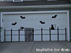 Great idea to decorate a garage door!