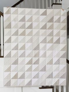 Modern Neutral Quilt, calm & soothing. Also article on Helpful Tips for Choosing Fabric for a Quilt, colors, print, scale