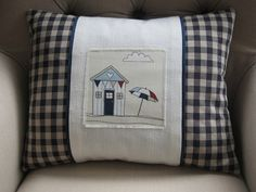 Beside the Seaside Cushion by PetitJute on Etsy, £22.50