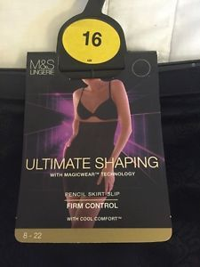 M&S Ultimate Shaping Pencil Skirt Slip with Magicwear™ Techno FIRM CONTROL BNWT | eBay