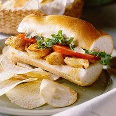 Grilled Seafood Po'Boy Recipe   MyRecipes.com