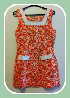 Vestidinho/blusinha laranja Vintage- Tamanho M R$26.00