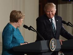 Trump reportedly made his staff brief him for Merkel's visit while he was in the bathroom