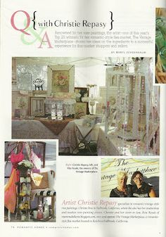 Romantic Homes article on the TVM Aug. 2012 (flea-market issue)