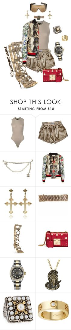 """""""2k17 Streetwear"""" by jeunesauvage ❤ liked on Polyvore featuring adidas Originals, Chanel, Gucci, Jimmy Choo, Rolex, Animal Planet, Konstantino and Rick Owens"""